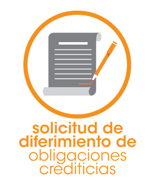 SOLICITUD DE DIFERIMIENTO DE OBLIGACIONES CREDITICIAS POR EMERGENCIA SANITARIA - COVID 19